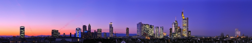 Blue Hour Skyline Panorama [no. 1368]