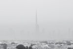 Dusty Morning in Dubai - BW [no. 1619]