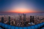 Frankfurt am Main: Sunset Skyline  [no. 417]