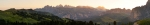 Sonnenaufgang über den Geislerspitzen - Panorama [no. 1332]